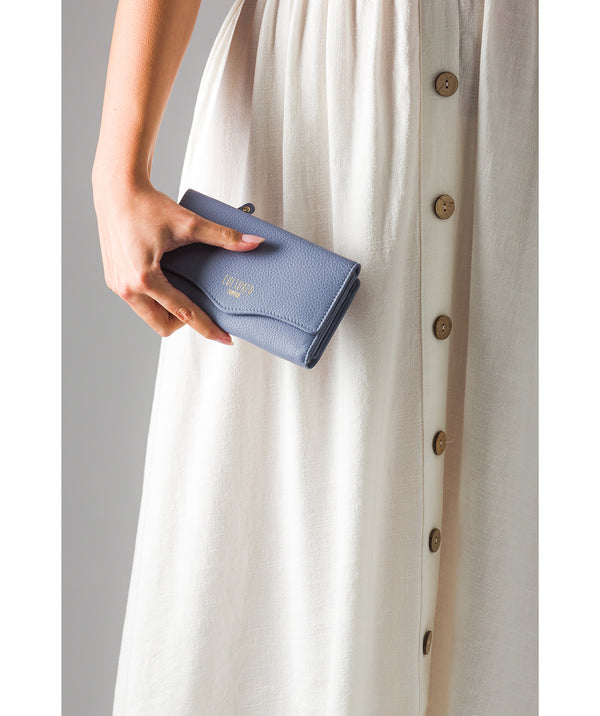'Letitia' Pale Blue Leather Purse