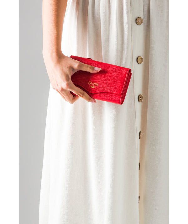 'Letitia' Royal Red Leather Purse