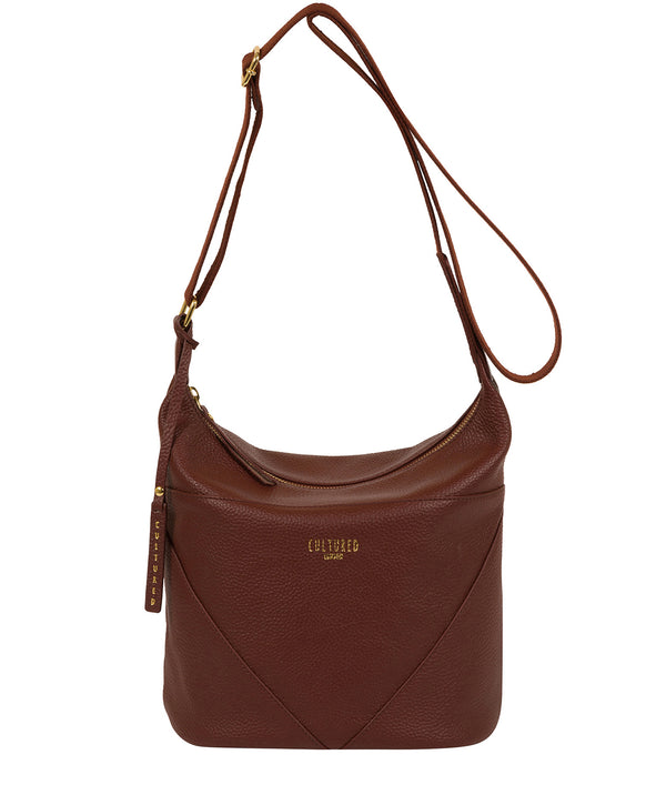 'Olsen' Cognac Leather Shoulder Bag image 1