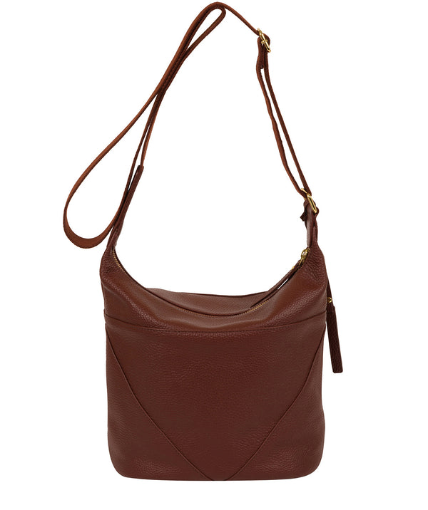 'Olsen' Cognac Leather Shoulder Bag image 3