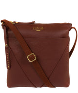 'Celia' Cognac Leather Cross Body Bag image 1