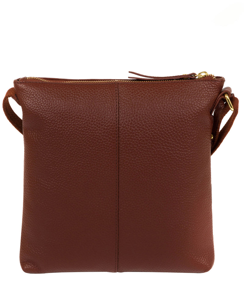 'Celia' Cognac Leather Cross Body Bag image 3