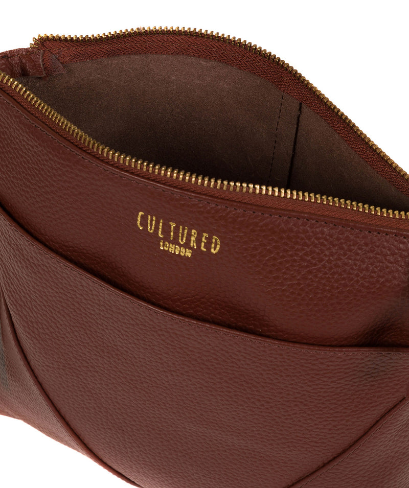 'Celia' Cognac Leather Cross Body Bag image 4