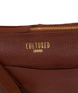 'Celia' Cognac Leather Cross Body Bag image 6