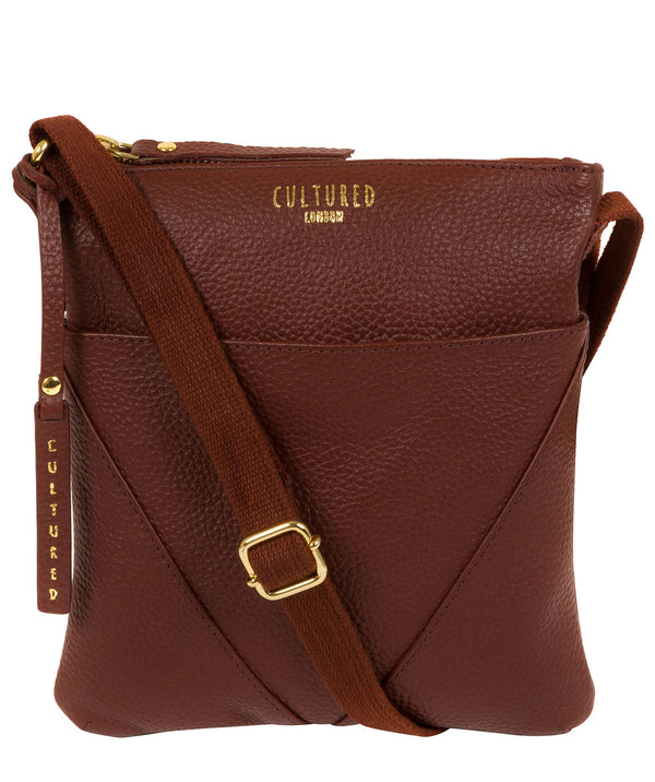 'Rebecca' Cognac Leather Cross Body Bag image 1