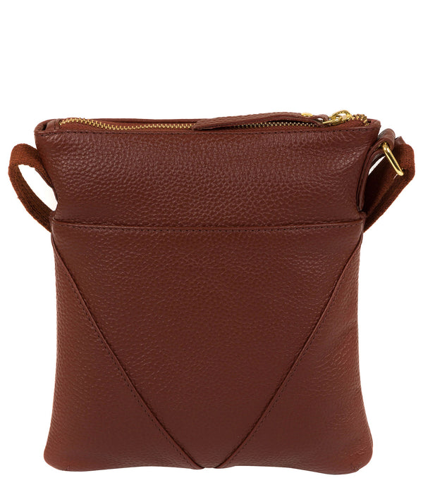'Rebecca' Cognac Leather Cross Body Bag image 3