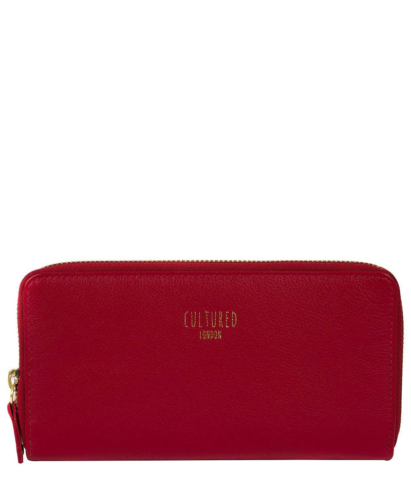 'Tabitha' Red Leather Purse Pure Luxuries London