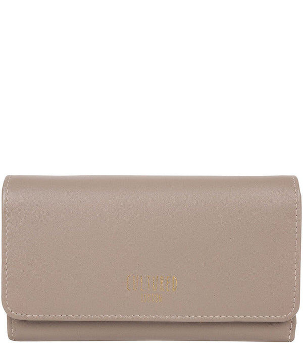 'Odette' Flat Grey Leather Purse
