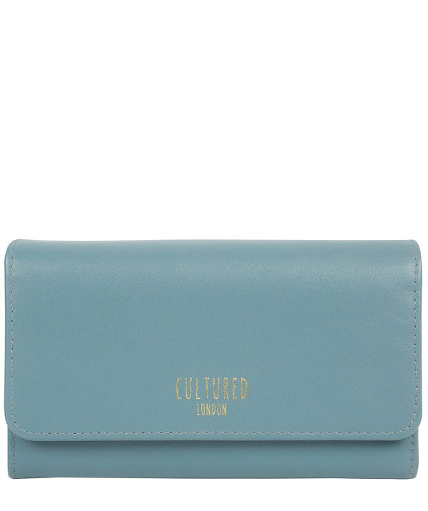 'Odette' Smoky Blue Leather Purse Pure Luxuries London