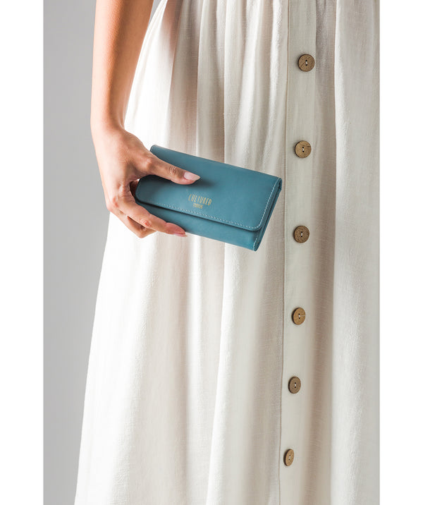 'Odette' Smoky Blue Leather Purse