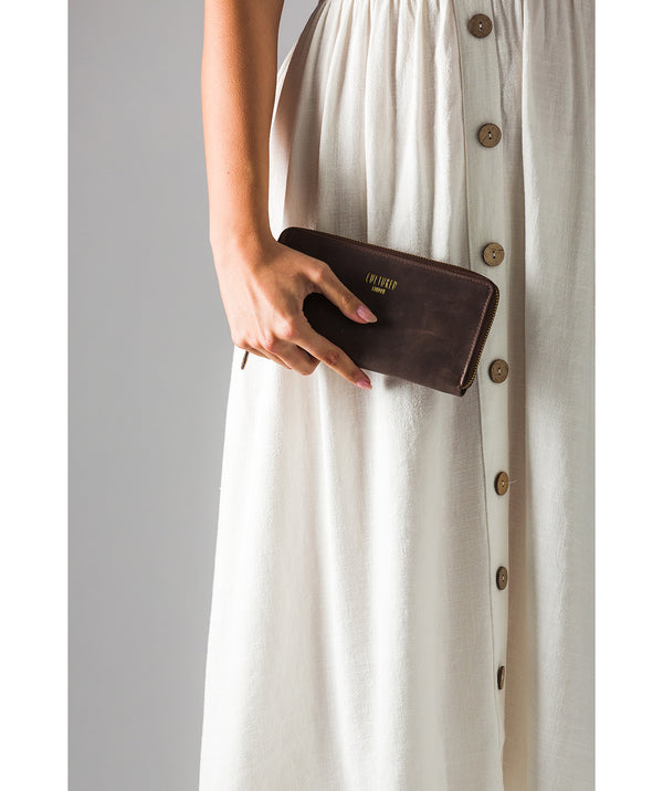 'Odette' Vintage Brown Leather Purse