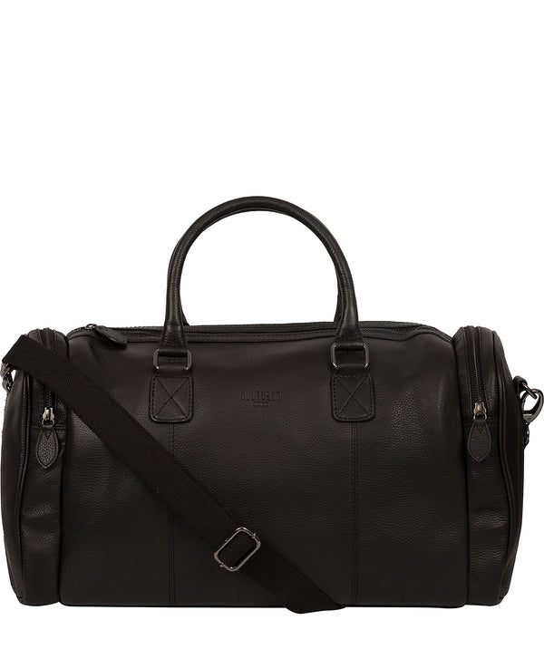 'Ocean' Black Leather Holdall