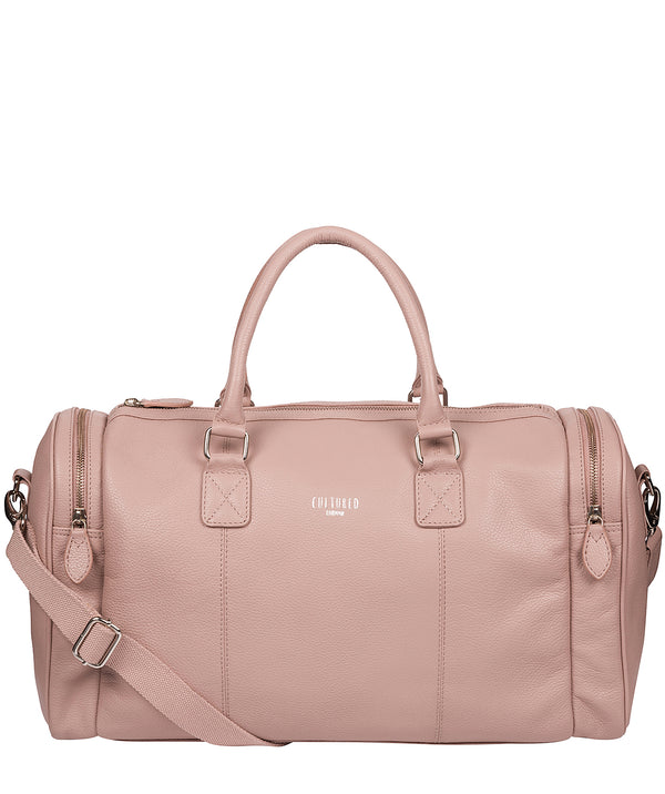 'Ocean' Blush Pink Leather Holdall