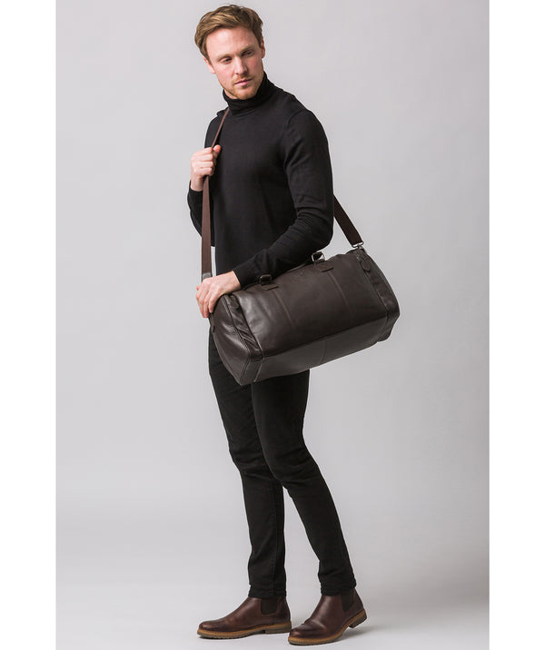 'Ocean' Brown Leather Holdall