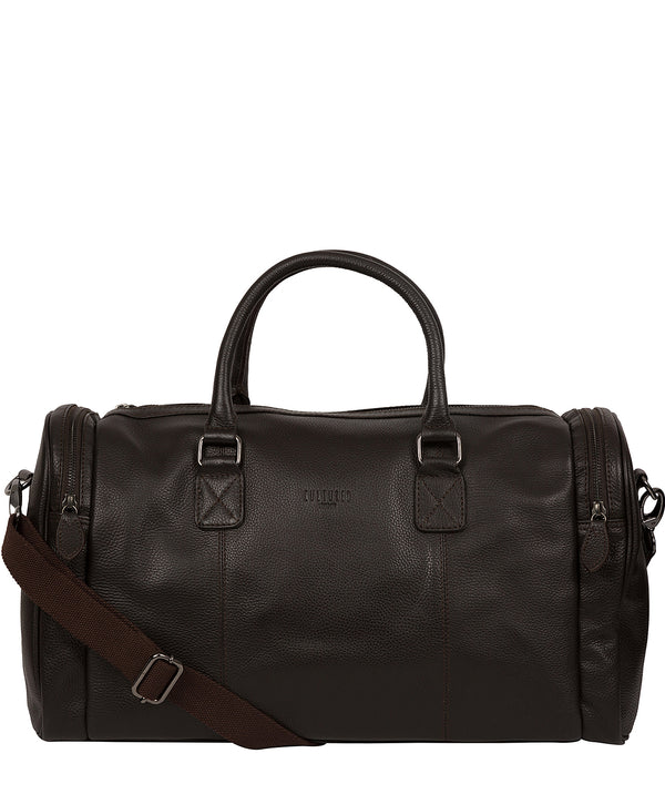 'Ocean' Dark Brown Leather Holdall