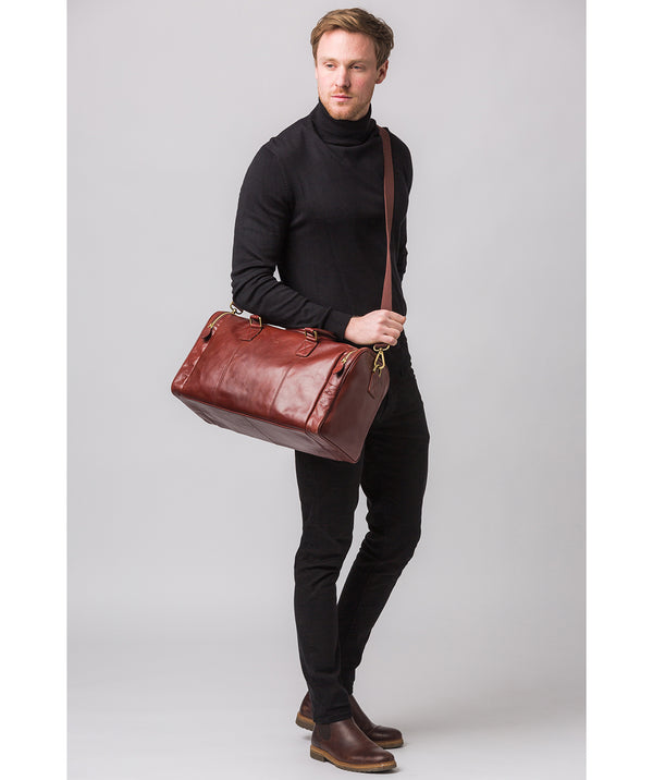'Ocean' Dark Chestnut Leather Holdall