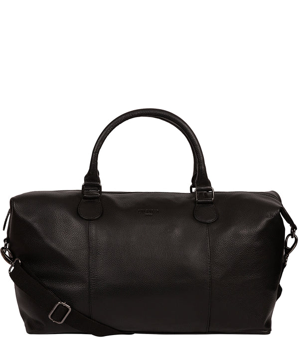 'Navigator' Black Leather Holdall