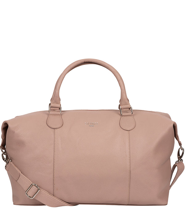 'Navigator' Blush Pink Leather Holdall