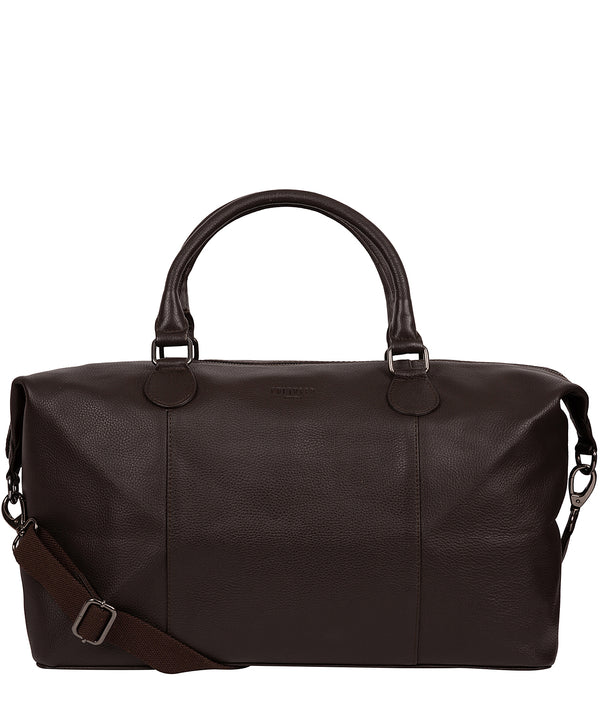 'Navigator' Brown Leather Holdall