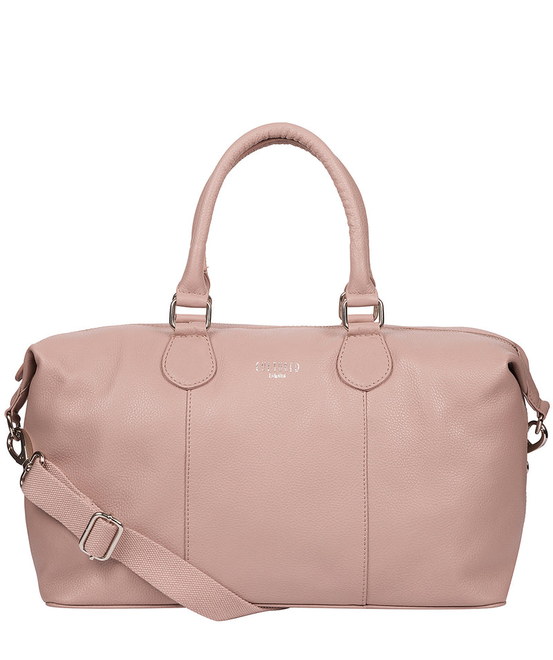 'Circuit' Blush Pink Leather Holdall