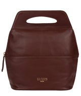 'Finsbury' Rich Chestnut Leather Backpack
