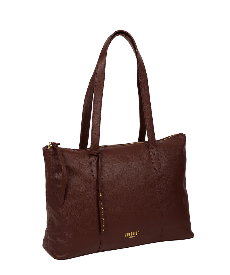 'Barbican' Rich Chestnut Leather Tote Bag