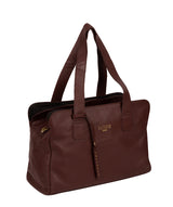 'Marquee' Rich Chestnut Leather Handbag