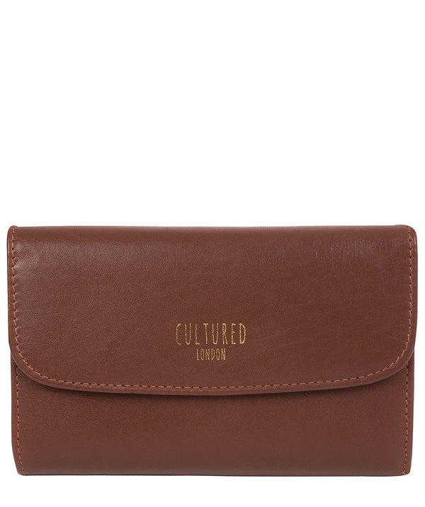 'Tatiana' Chestnut Leather Purse