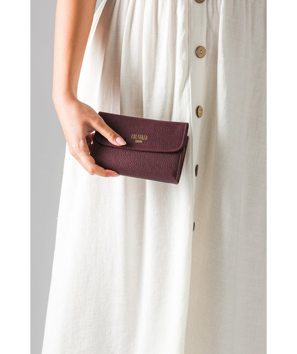 'Tatiana' Raisin Leather Purse