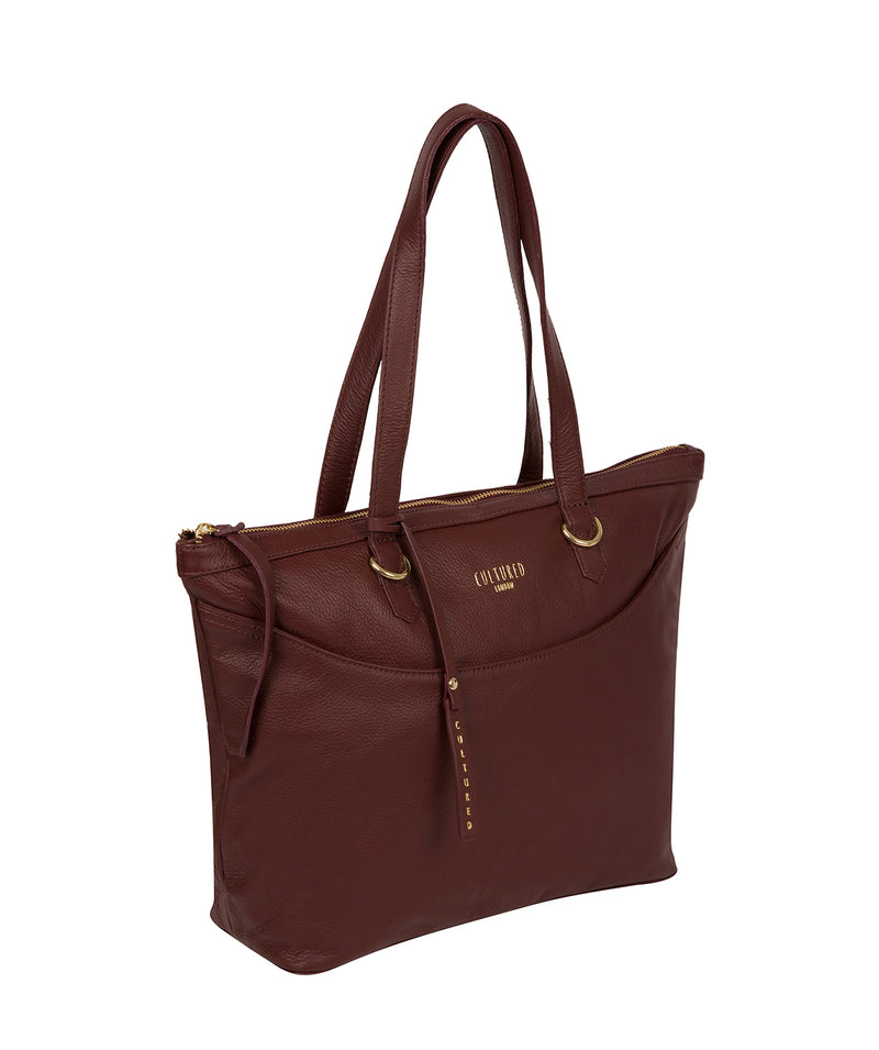 'Heston' Rich Chestnut Leather Tote Bag