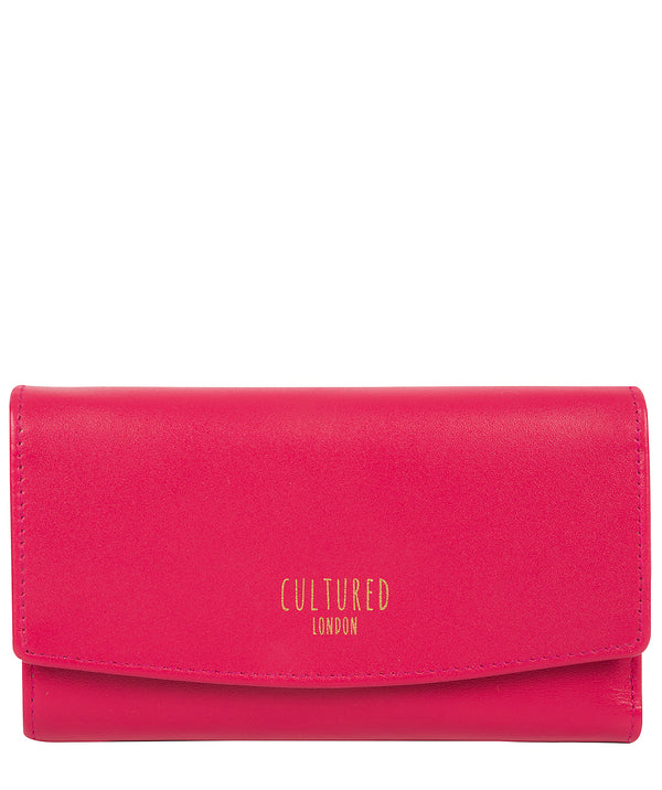 'Aviva' Fushia Leather Purse'