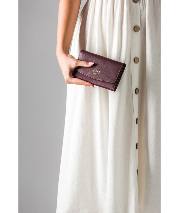 'Aviva' Raisin Leather Purse