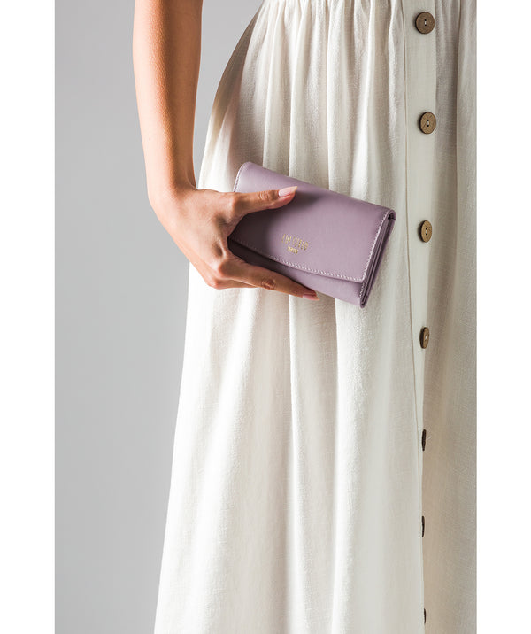 'Aviva' Subtle Lilac Leather Purse