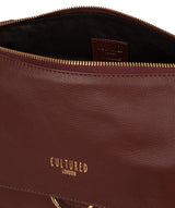 'Chancery' Rich Chestnut Leather Shoulder Bag