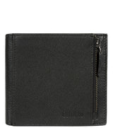 'Wilson' Black Leather Bi-Fold Wallet image 1