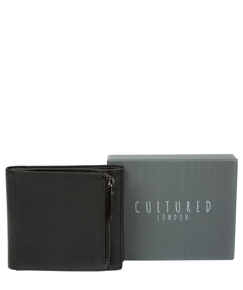 'Wilson' Black Leather Bi-Fold Wallet image 6