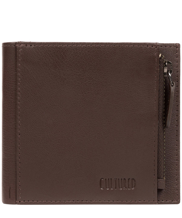 'Wilson' Brown Leather Bi-Fold Wallet image 1