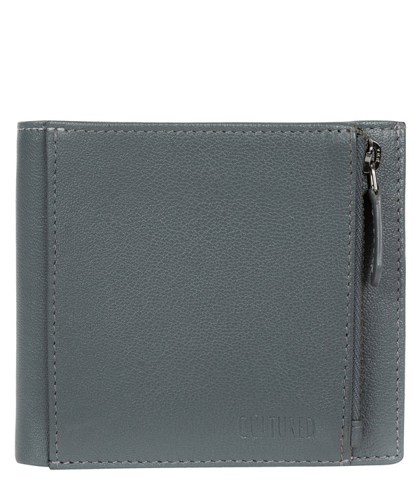 'Wilson' Gun Metal Leather Bi-Fold Wallet image 1