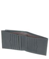 'Wilson' Gun Metal Leather Bi-Fold Wallet