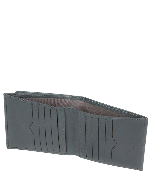 'Wilson' Gun Metal Leather Bi-Fold Wallet image 3