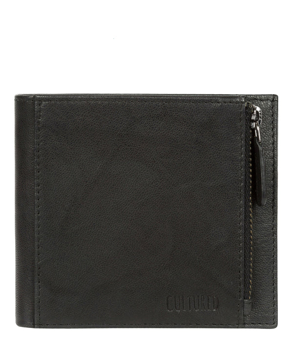'Wilson' Vintage Black Leather Bi-Fold Wallet image 1