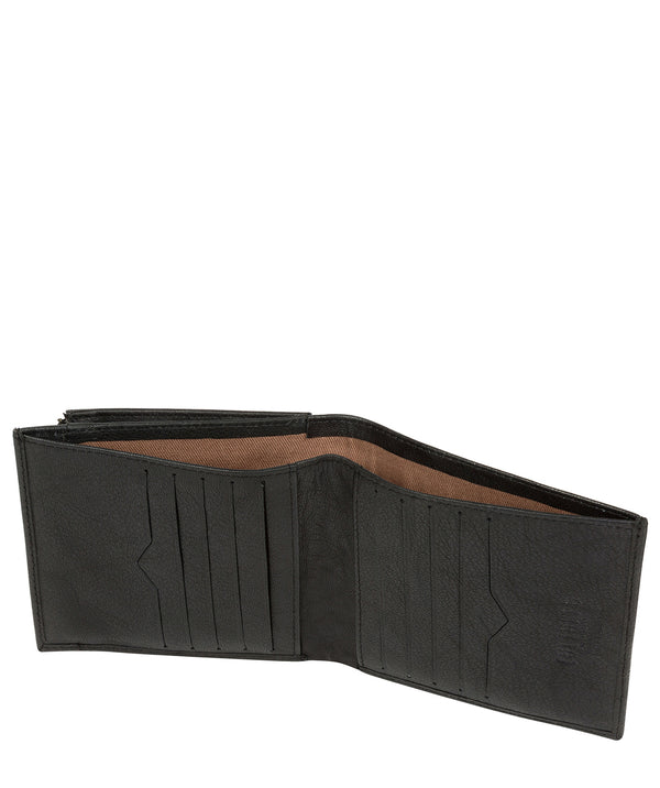 'Wilson' Vintage Black Leather Bi-Fold Wallet image 3