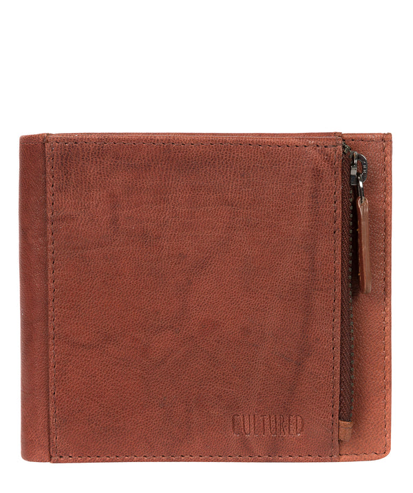 'Wilson' Vintage Brick Leather Bi-Fold Wallet Pure Luxuries London