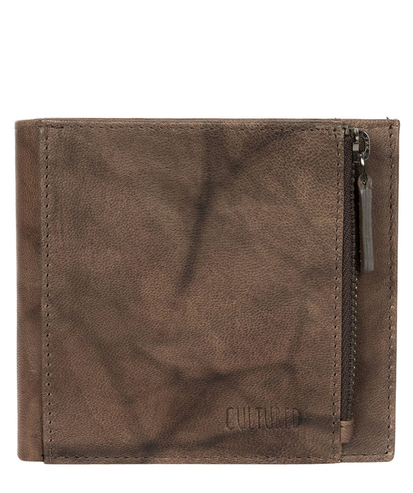 'Wilson' Vintage Brown Leather Bi-Fold Wallet image 1