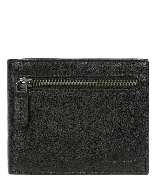 'Victor' Black Leather Tri-Fold Wallet image 1