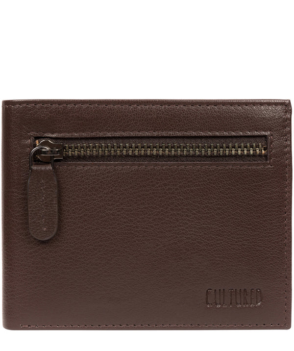 'Victor' Brown Leather Tri-Fold Wallet image 1