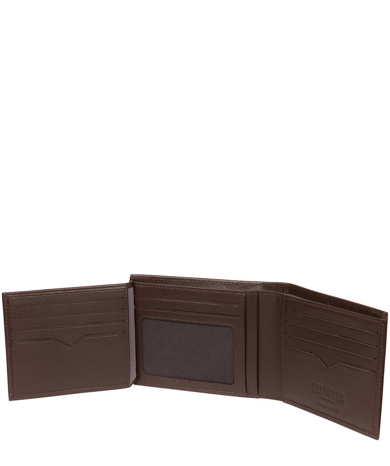 'Victor' Brown Leather Tri-Fold Wallet image 4