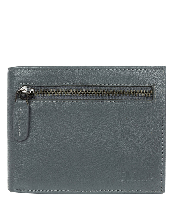 'Victor' Gun Metal Leather Tri-Fold Wallet image 1