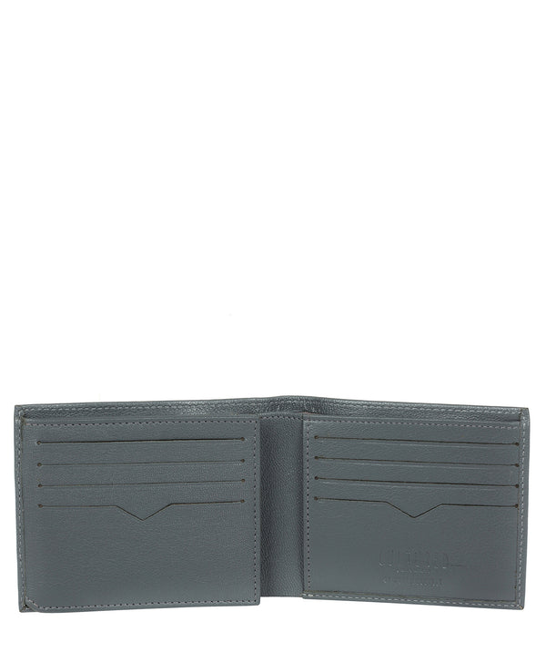 'Victor' Gun Metal Leather Tri-Fold Wallet image 3