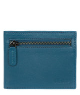 'Victor' Teal Leather Tri-Fold Wallet image 1